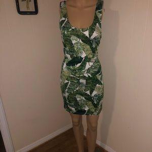 NWOT H&M tropical palm mini dress